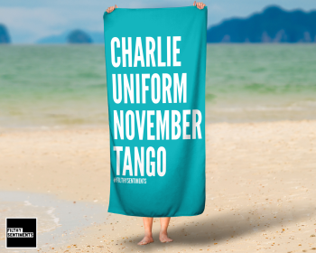 CHARLIE TURQUOISE TOWEL