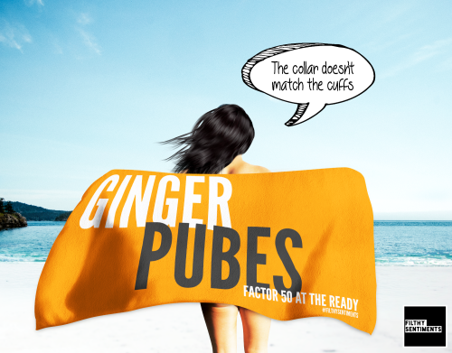 GINGER PUBES TOWEL