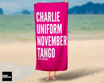 CHARLIE PINK TOWEL / K019