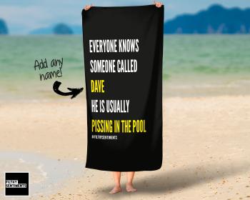 EVERYONE KNOWS PERSONALISED TOWEL - PERTOWEL