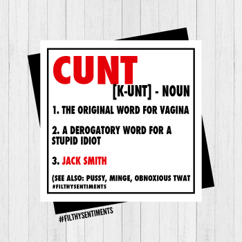 CUNT NOUN PERSONALISED CARD - PER88