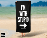 I'M WITH STUPID TOWEL