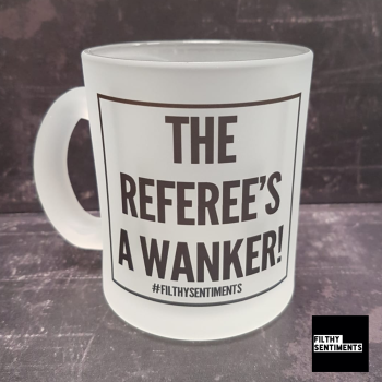 REFEREE FOOTIE BEER GLASS