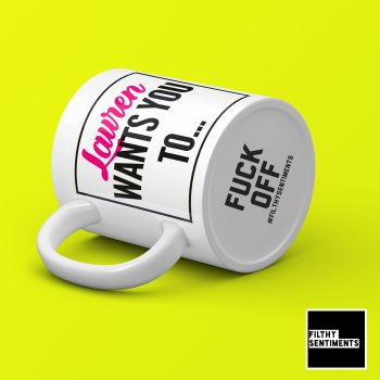 PERSONALISED FUCK OFF BOTTOM HIDDEN MESSAGE MUG - 170