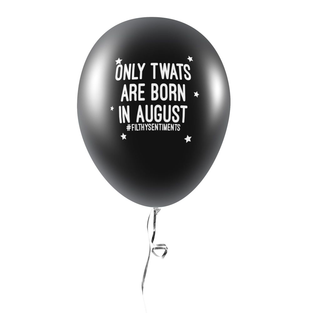 BORN IN AUGUST BALLOONS (Pack of 5) - E0038
