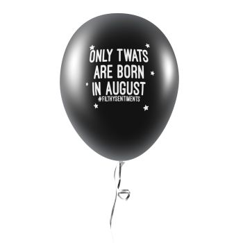 BORN IN AUGUST BALLOONS (Pack of 5) - C0041