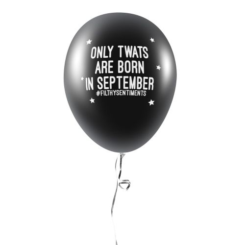 BORN IN SEPTEMBER BALLOONS (Pack of 5) - E0037