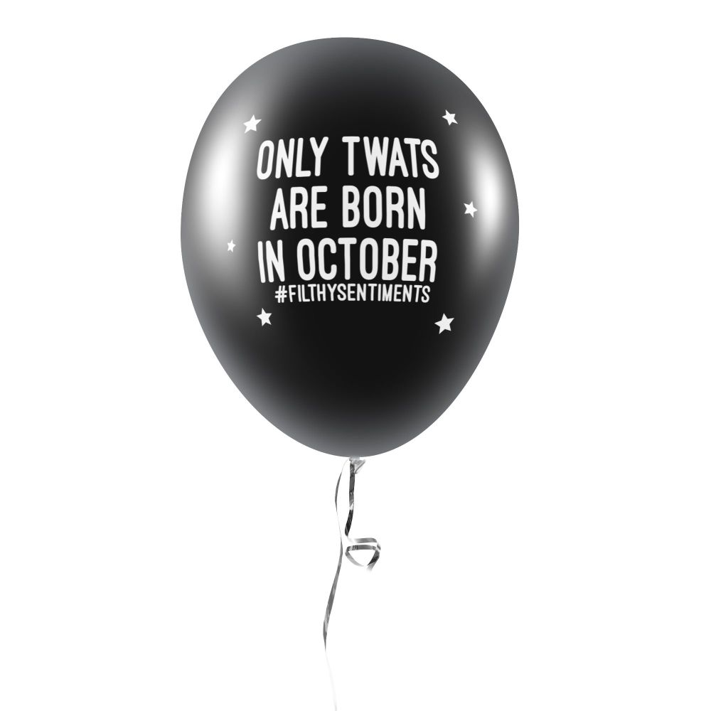 BORN IN OCTOBER BALLOONS (Pack of 5)