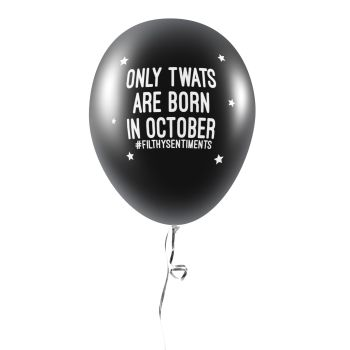 BORN IN OCTOBER BALLOONS (Pack of 5) C0043