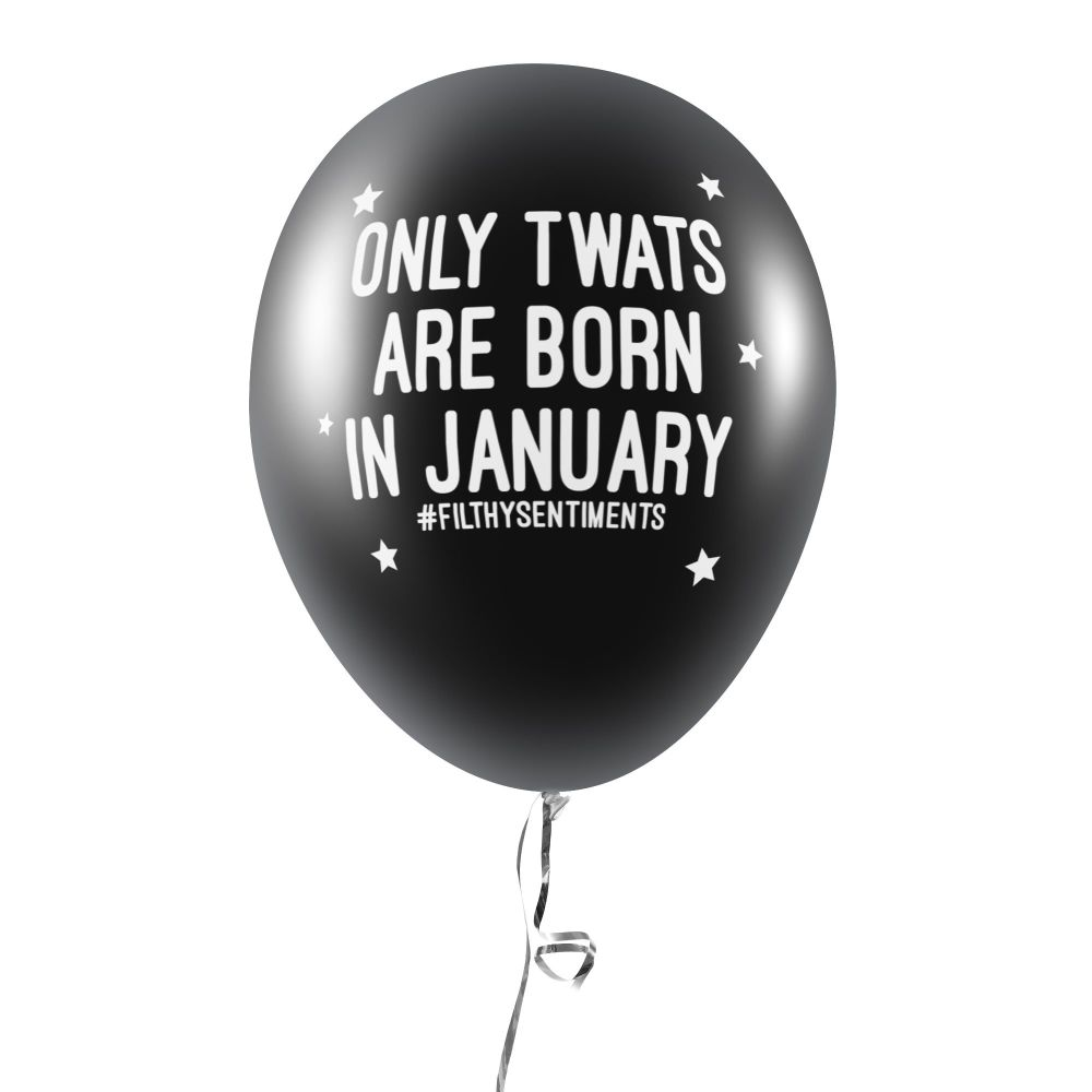 BORN IN JANUARY BALLOONS (Pack of 5)