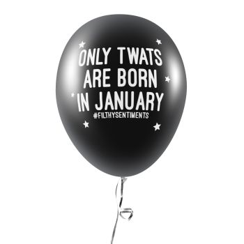BORN IN JANUARY BALLOONS (Pack of 5) C0031