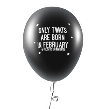 BORN IN FEBRUARY BALLOONS (Pack of 5) C0032