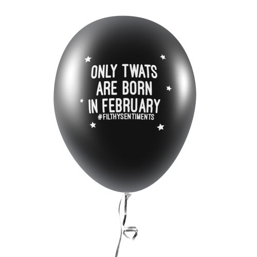BORN IN FEBRUARY BALLOONS (Pack of 5)