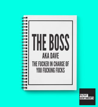 BOSS NOTEBOOK PERSONALISED - N001