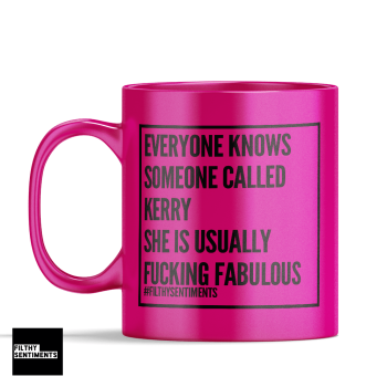 EVERYONE KNOWS SOMEONE CALLED NEON COLOURED MUG 115