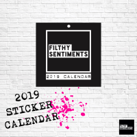 Filthy Sentiments sticker calendar 2019 D00017