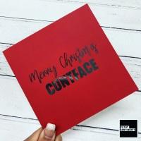 CUNTFACE MERRY CHRISTMAS CARD - FS817