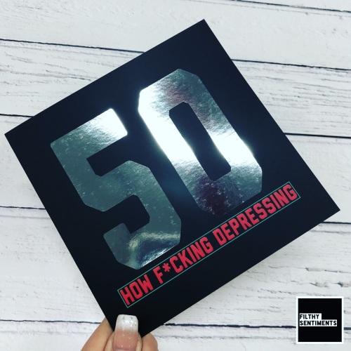 HOW DEPRESSING 50 CARD - FS821