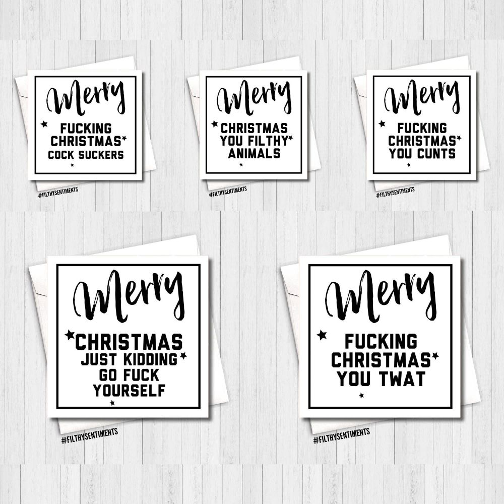 *NEW* Awesome White Christmas Card Mixed Pack of 10  - PER33