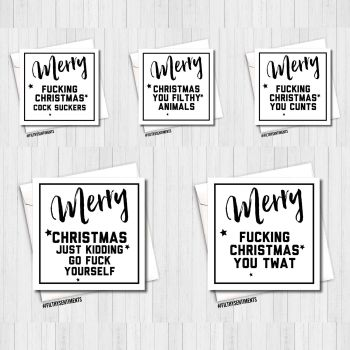 Festive White Christmas Card Pack  - PER33
