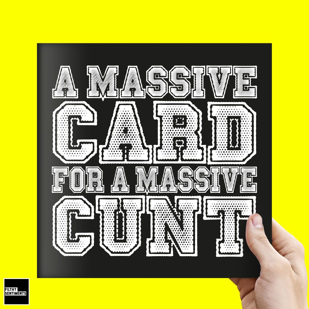 JUMBO XL CUNT CARD - FS331