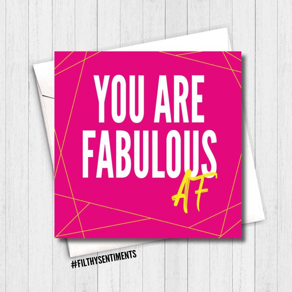 FABULOUS AF CARD - FS343