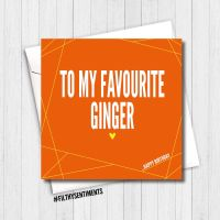 FAVOURITE GINGER CARD - FS345/ G0086