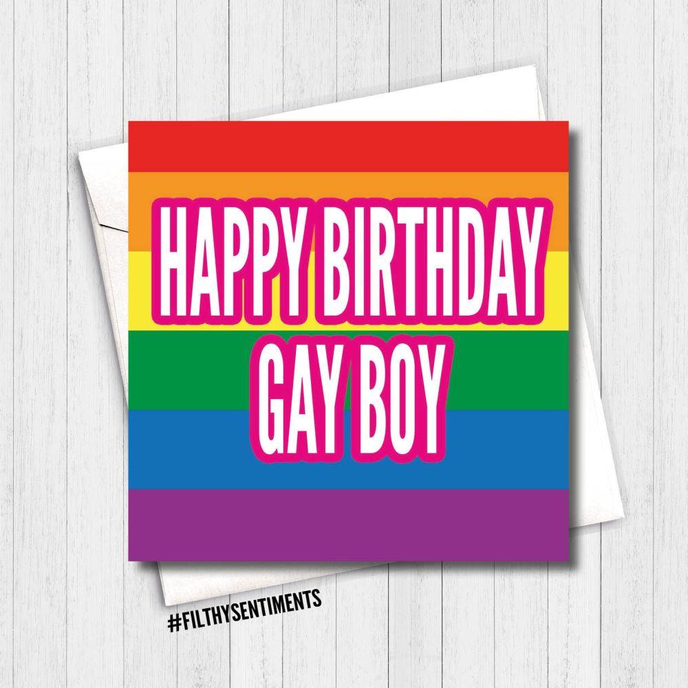 HAPPY BIRTHDAY GAY BOY CARD - FS347