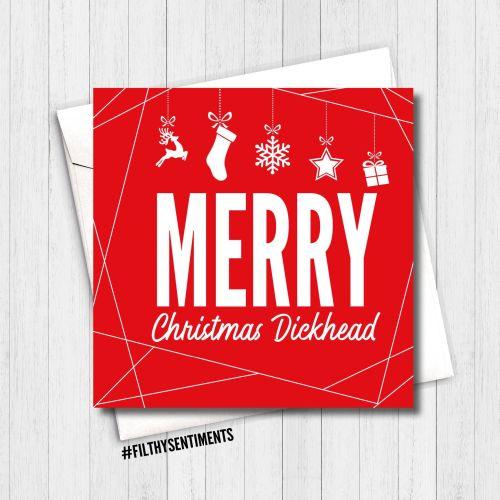 MERRY CHRISTMAS DICKHEAD RED CARD - FS350