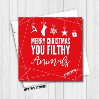 MERRY CHRISTMAS FILTHY ANIMALS RED CARD - FS354
