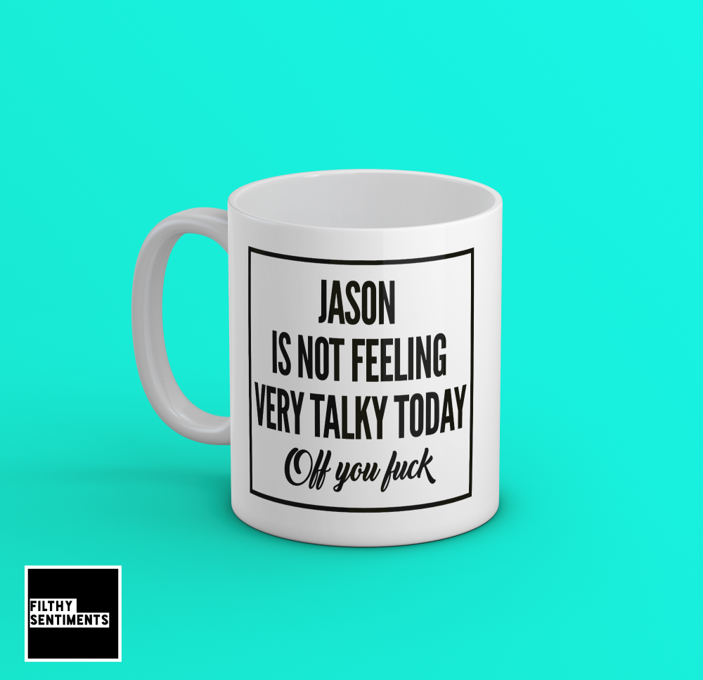 PERSONALISED TALKY MUG - 178