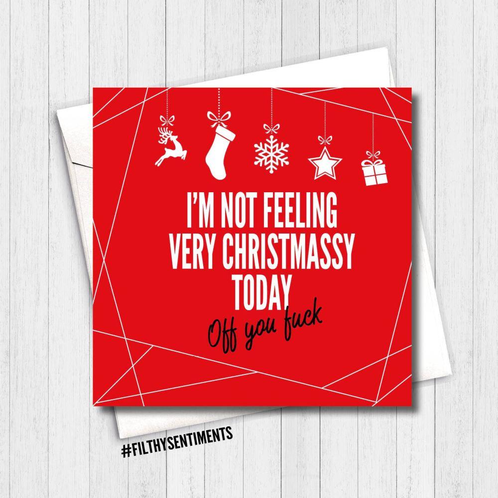 FEELING CHRISTMASSY RED CARD - FS356