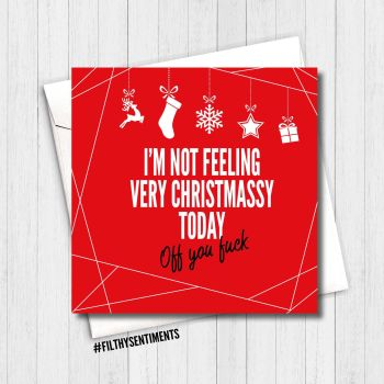 FEELING CHRISTMASSY RED CARD - FS356