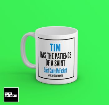SAINT BLUE PERSONALISED MUG - 166