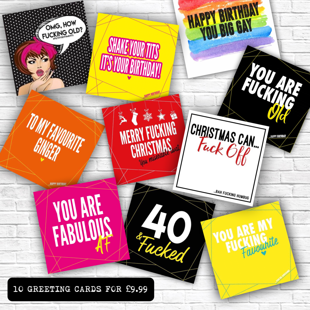 10 LUCKY DIP GREETING CARDS