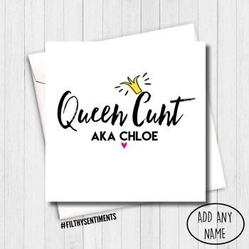 QUEEN CUNT CARD - PER5
