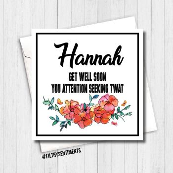 *NEW* GET WELL SOON CARD - PER28