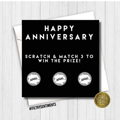 Anniversary Anal scratch card