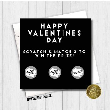 Amazing Valentines day Blowjob scratch card