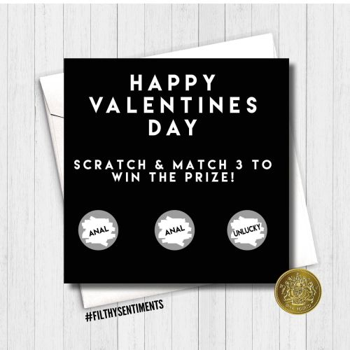 ANAL Valentines day scratch card
