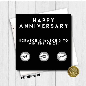 Anniversary Blowjob scratch card