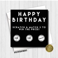 BIRTHDAY BLOWJOB BLACK SCRATCH CARD - FS188 B0083 / B0084