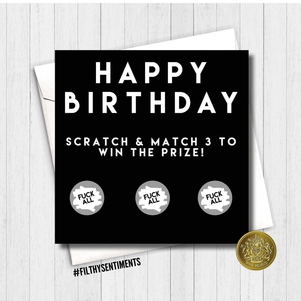 Birthday Fuck all scratch card - HBFAMA275 - G0049