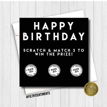 Birthday Fuck all scratch card - FS189 - G0049