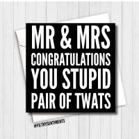 Mr & Mrs stupid twats card - FS131  - B00068