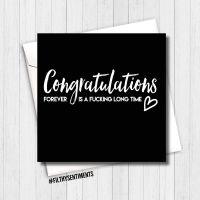 Congratulations, forever card CFIALT282 -  G0083