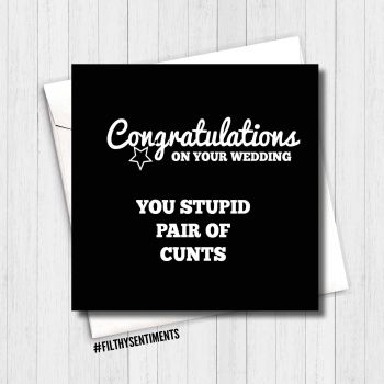 Congratulations, stupid pair of cunts card  FS225 - G0078