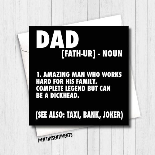 DAD NOUN CARD - FS290 - H0046
