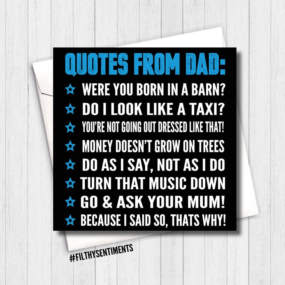 Funny Father's Day Card | Greeting Card | Rude Cards for Dad