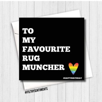 Favourite Rug Muncher birthday card - FS108 - H0028